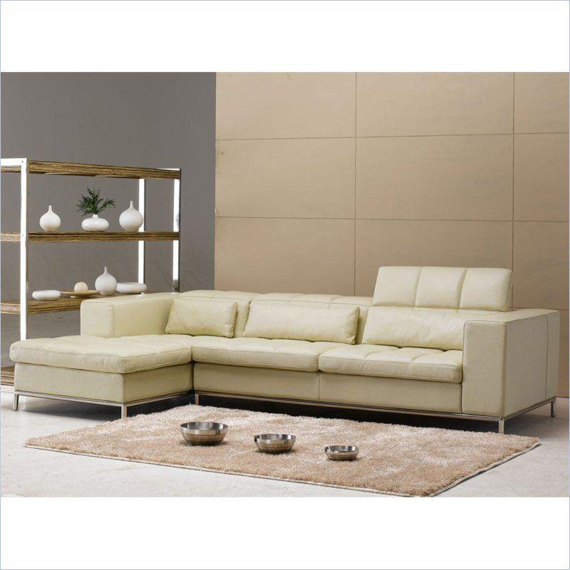 tosh furniture modern half leather left side facing sectional sofa rh pinterest com