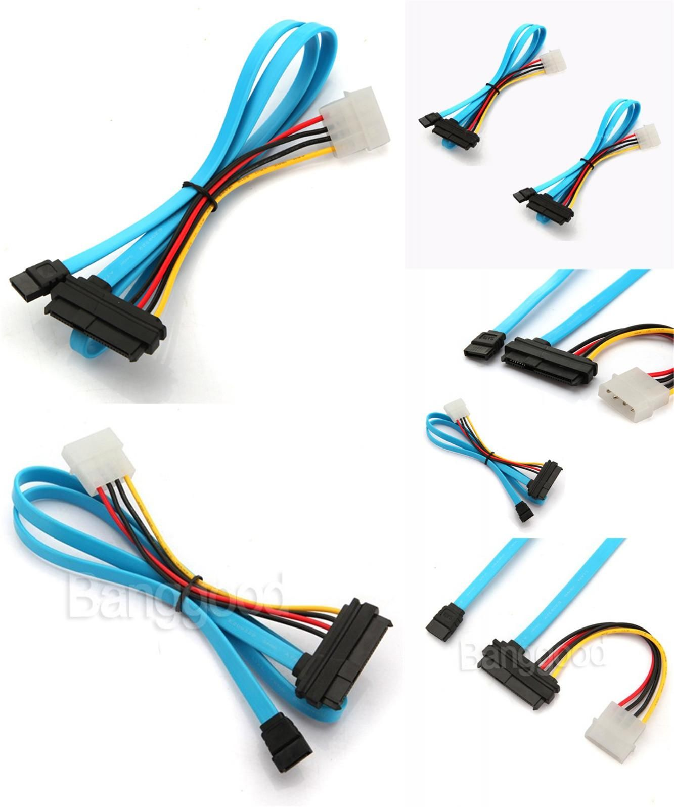 hight resolution of  visit to buy 1pcs 7 pin sata serial female ata to sas 29 pin connector cable 4 pin male power cable adapter converter for hard disk drive advertisement