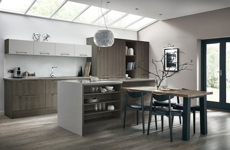Dark Grey Modern Kitchen greenwich dark grey oak kitchen from the universal collection