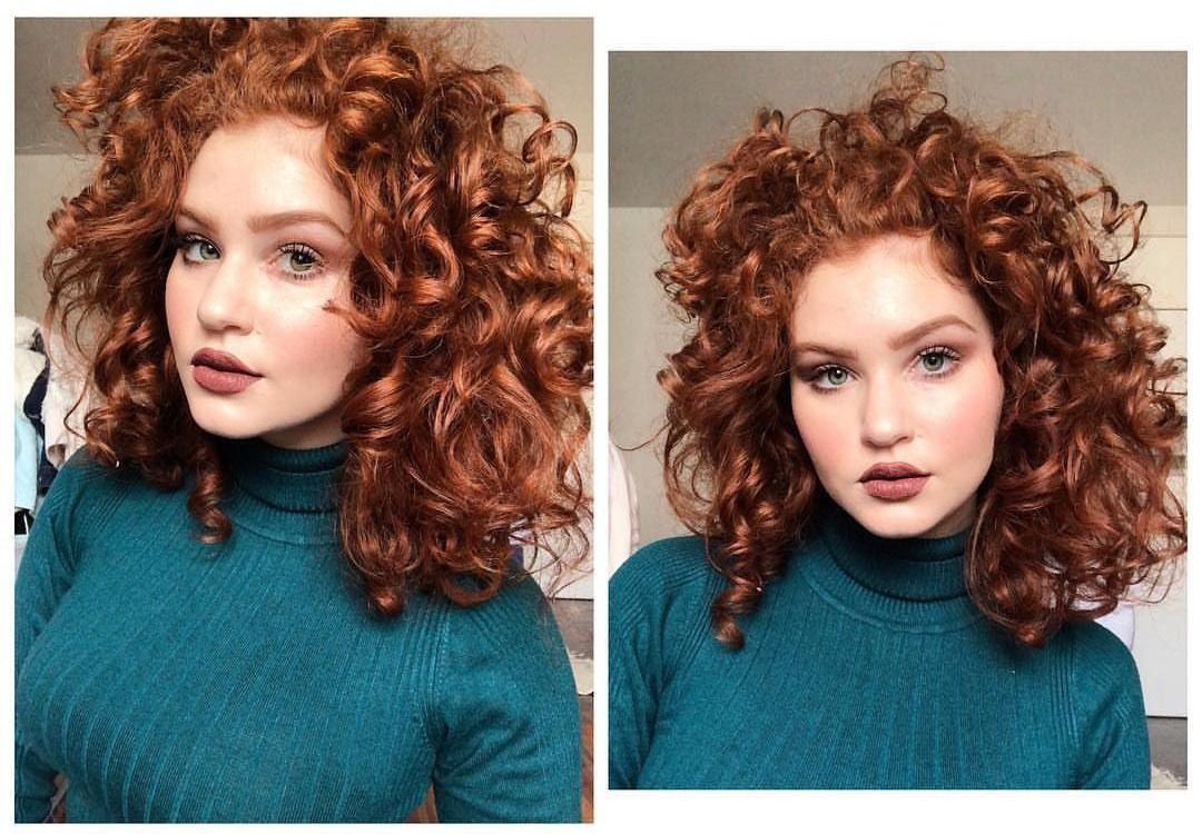 Hair Color Forever Red Curly Hair Curly Hair Styles Red Hair With Bangs