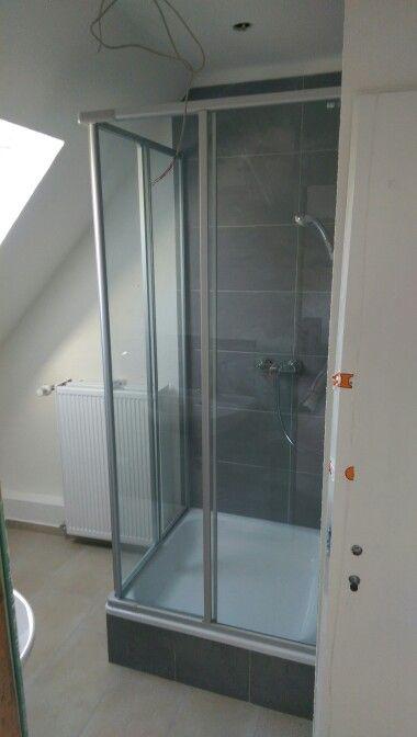 Eckdusche 2tlg #sanitär #dusche #haustechnik #bad #einrichten - schiebetüren für badezimmer