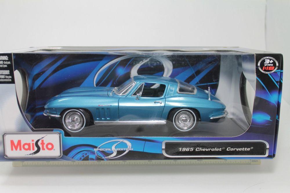 MAISTO 1:18 SPECIAL EDITION 1965 CHEVROLET CORVETTE Diecast Car Orange