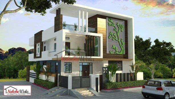Contemporary house elevation modern designs for house india