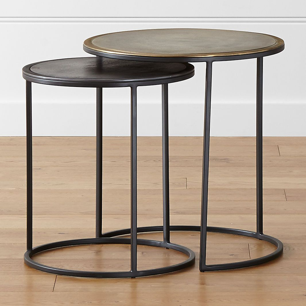 Side And End Tables Crate And Barrel Canada Nesting Accent Tables Accent Table Sets Modern Accent Tables [ 1066 x 1066 Pixel ]