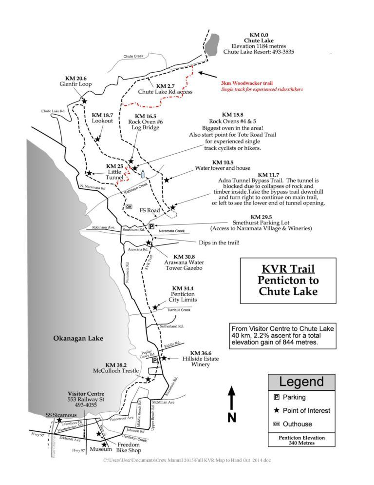 Printable Hiking Walking And Biking Trails Along The Kvr Kettle