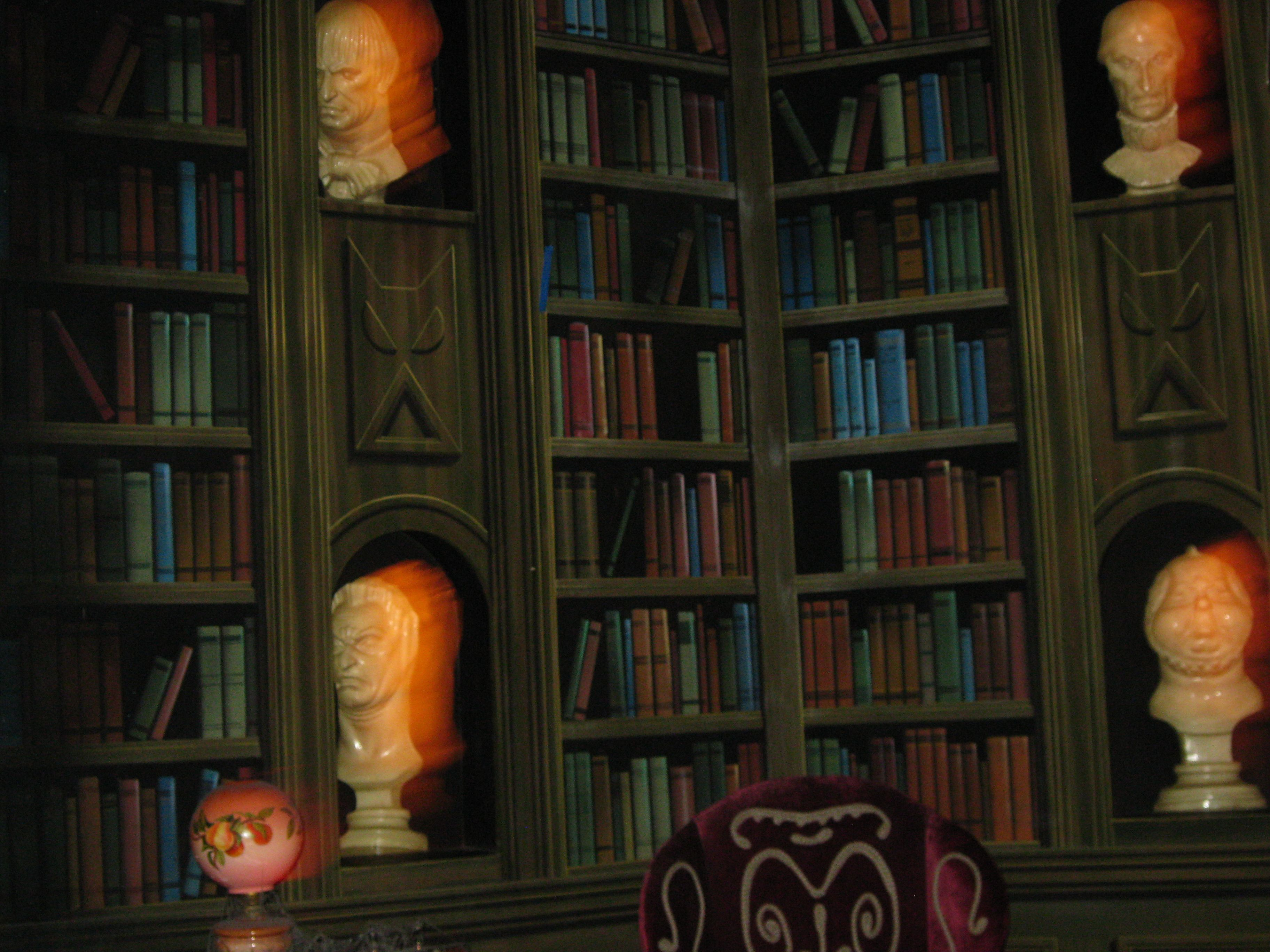 library inside the haunted mansion disney world the