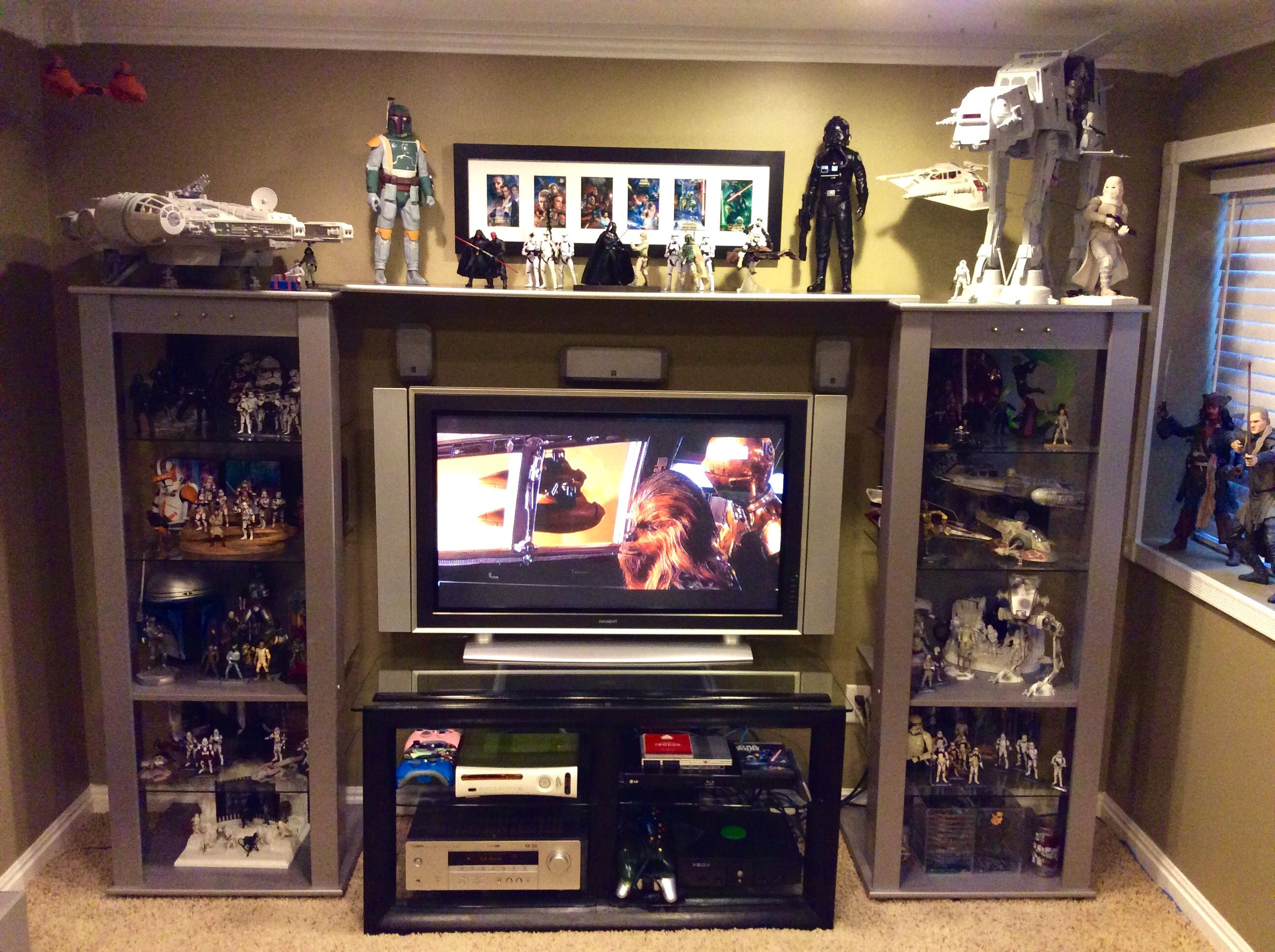 added new shelf to entertainment center to make room for some 6 inch rh pinterest com