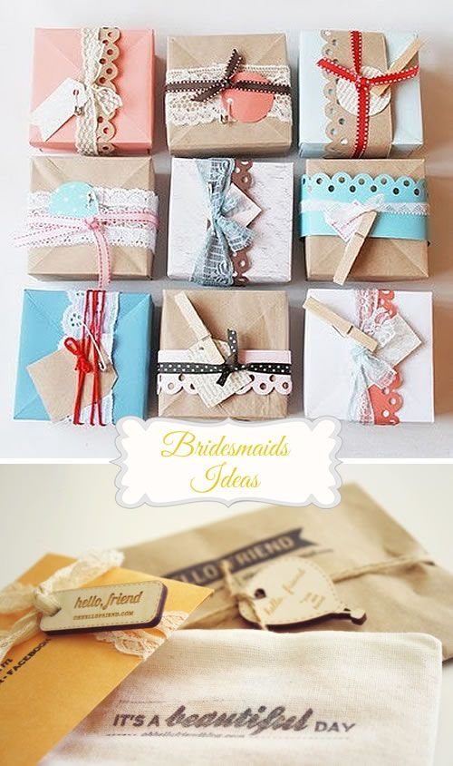 Wrap it up bridemaids gift packaging ideas wedding planning gift bridesmaid gifts ideas ideas and trends favors gifts do it yourself solutioingenieria Images