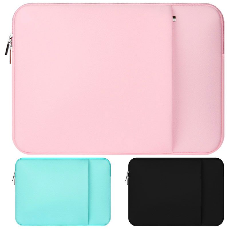 "HOT PINK Zipper Sleeve Bag with Pockets for All Laptop 13/"" Macbook Pro Air"