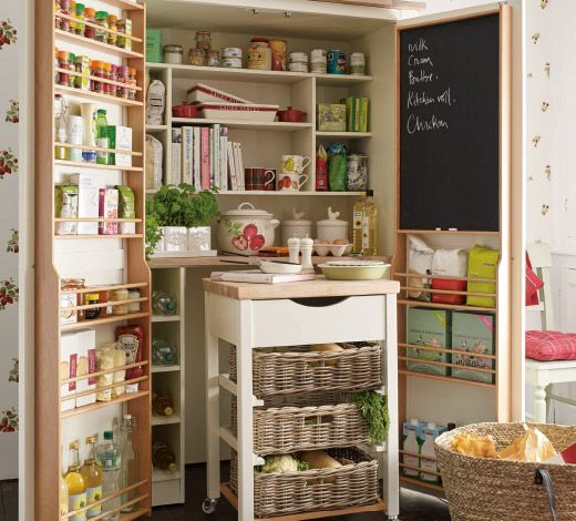 Amazing Laura Ashley pantry. I need this in my kitchen ...