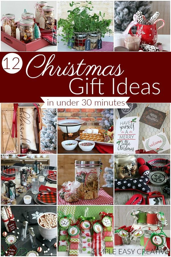 Christmas Gift Ideas that you can make in UNDER 30 minutes! #christmasgiftideas #giftideas