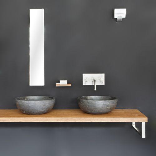 Waskom Alpha, ronde natuurstenen wasbak - badkamer | Pinterest ...