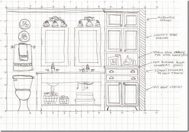 sketch elevation bathroom east wall bathroom elevation sketches interior design pinterest walls bath and bath room