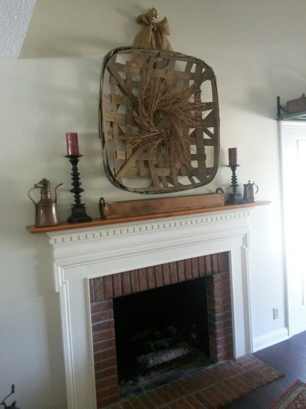 Tobacco Basket Above The Fireplace The Homestead Evansville In Home Deco Tobacco Basket Home Decor