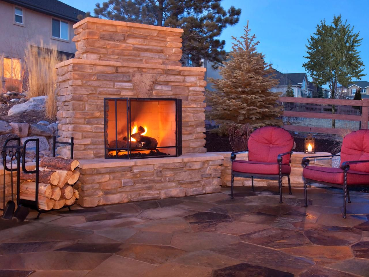 how to plan for building an outdoor fireplace hgtv inspiration