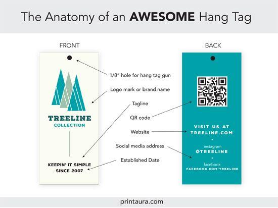 Anatomy Of An Awesome Clothing Hang Tag Templates Print Aura Dtg Printing Services Hang Tags Clothing Tag Templates Hang Tags
