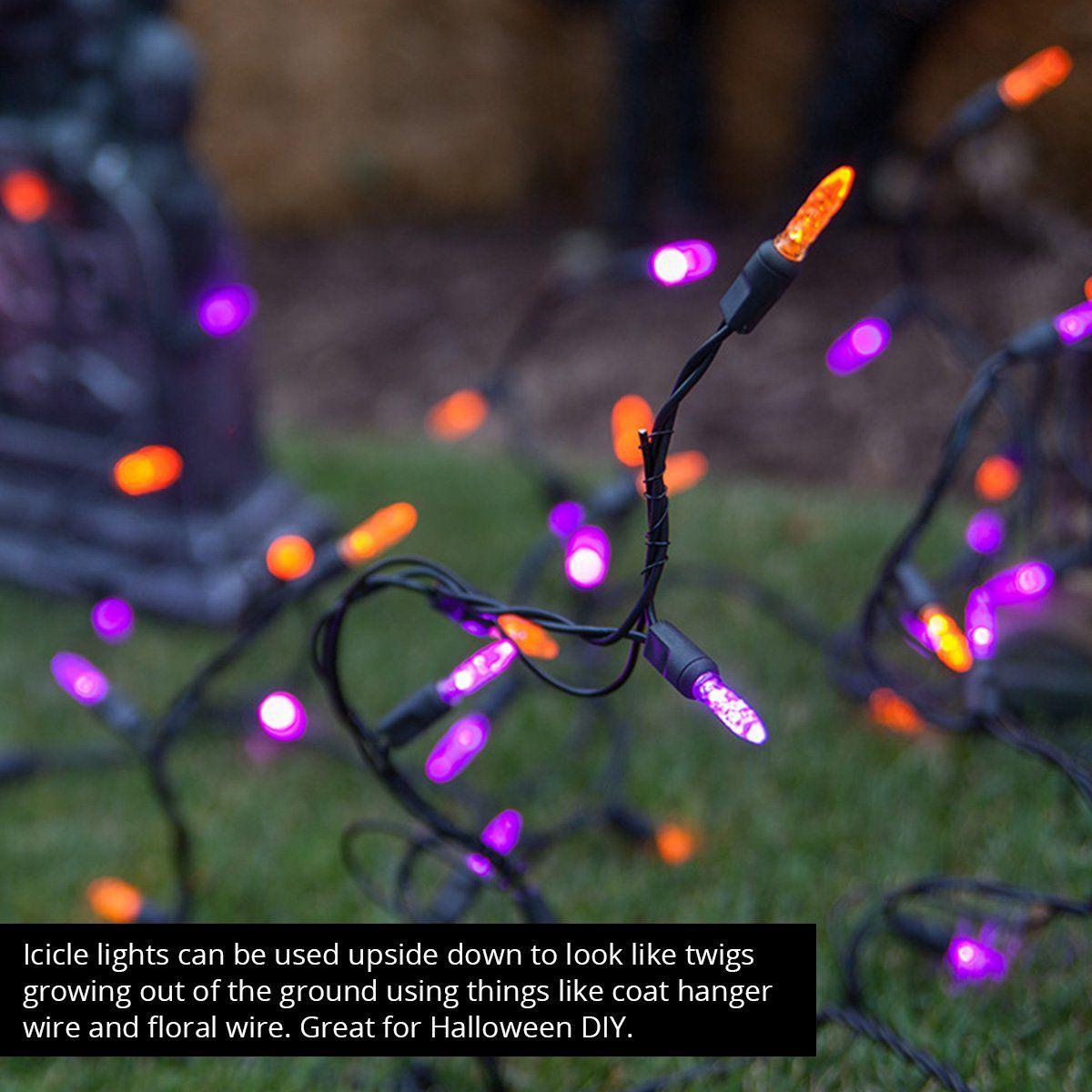 low priced 939fc 6192a Wintergreen Lighting Halloween Mini LED Lights on Halloween ...