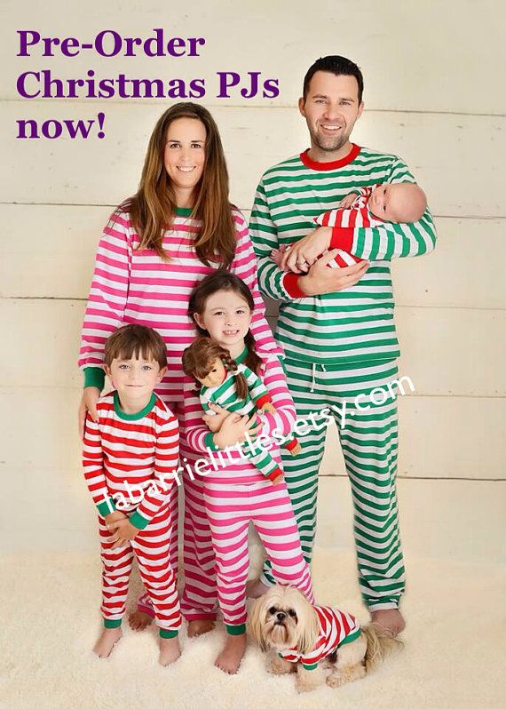 Kids Christmas Pajamas Pre-order - Personalized PJs and Infant Gown