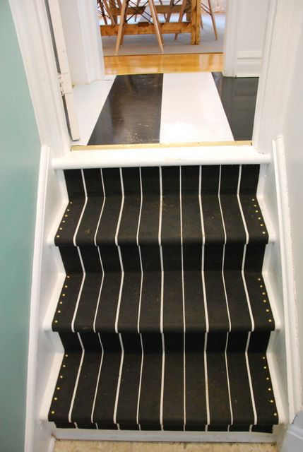 Diy Stair Runner How To Install A With Ikea Rugs