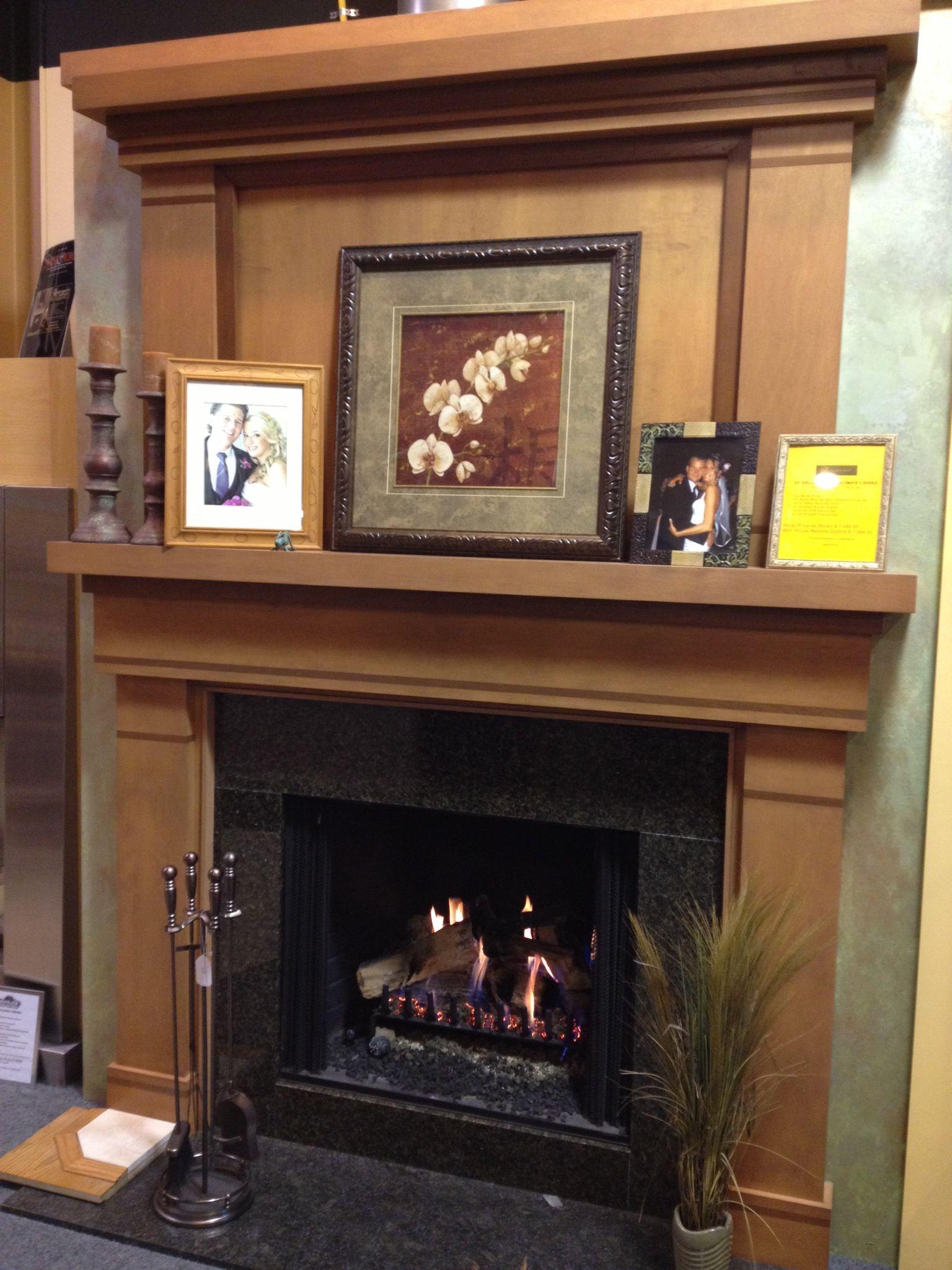 eiklor gas logs set in a heatilator wood burner box. Black Bedroom Furniture Sets. Home Design Ideas