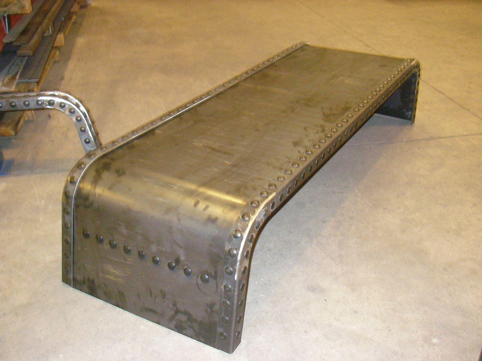 Mesa en chapa de hierro con remaches a gusto del cliente mesas y mostradores muebles mesas - Muebles de chapa ...