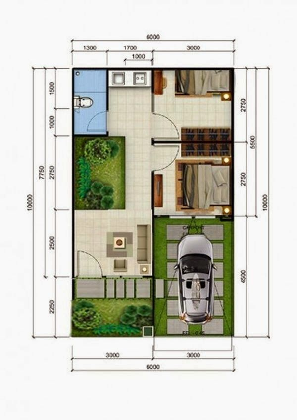 desain rumah minimalis type 36 7 & desain rumah minimalis type 36 7 | Proyek untuk dicoba | Pinterest