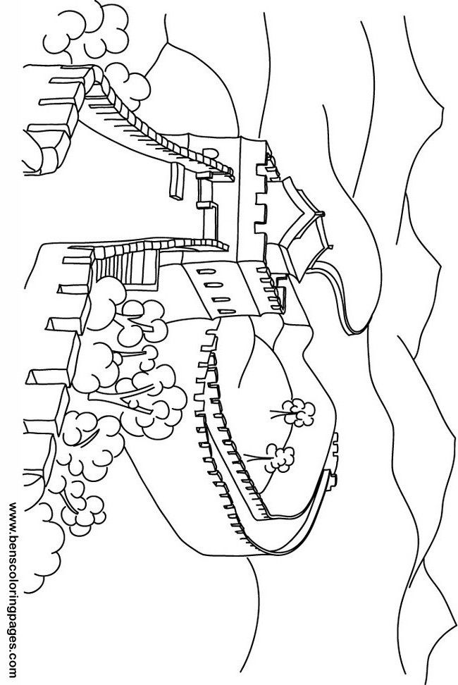 great wall of china colouring pages - Great Wall China Coloring Page