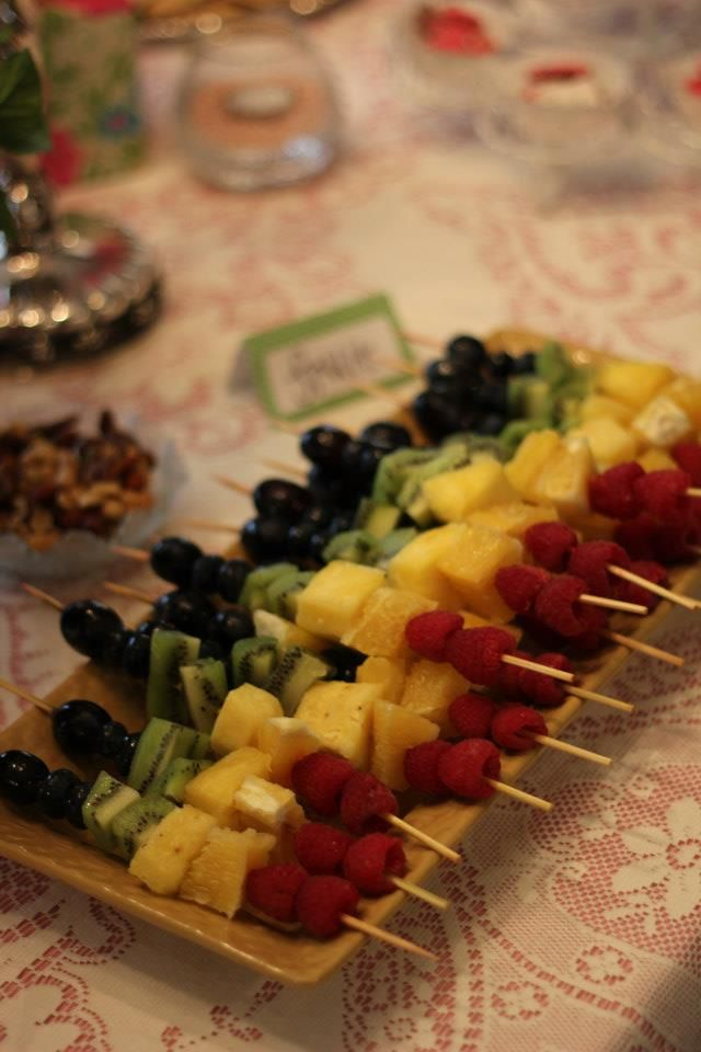 baby shower food fruit and cheese