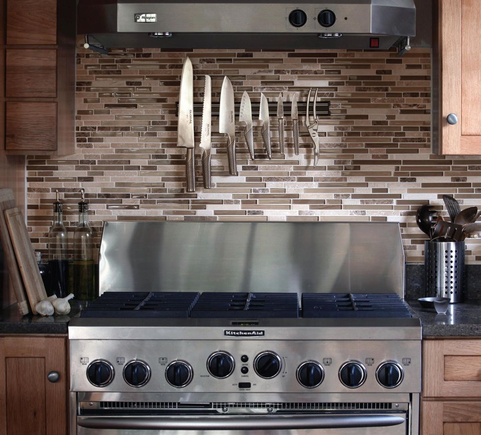 Kitchen Decor Canada: A Kitchen Back-splash With Blends Of Earthy Tones (Item