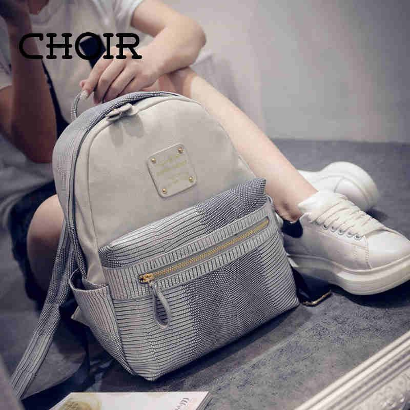 CHOIR Latest fashion women leather backpack,book backpack for ...