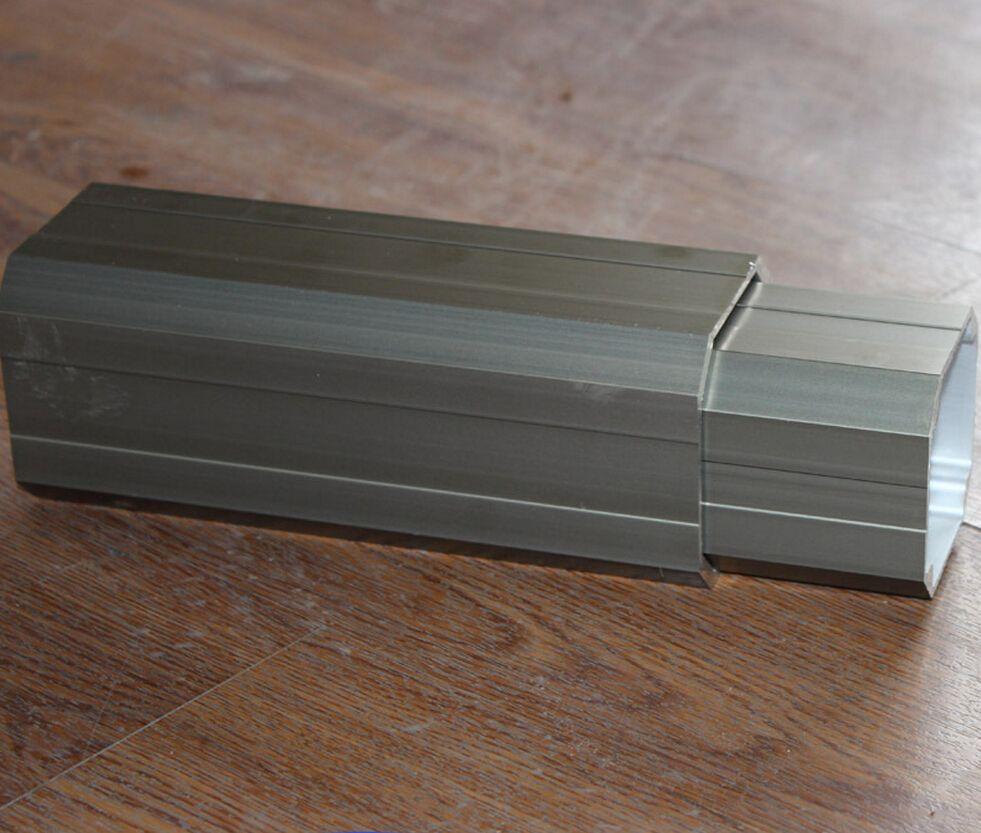 High quality aluminum tube, aluminum square tube connector