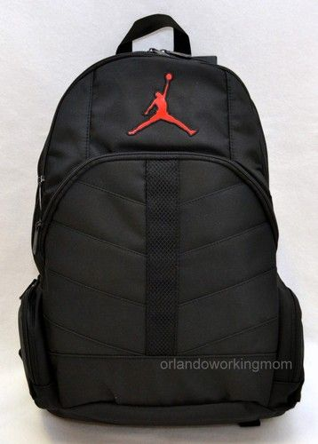 dc0376efd73 Nike Air Jordan Black backpack for Men, Women, boys and Girls with red  jordan logo #OrlandoTrend #Nike #Backpack