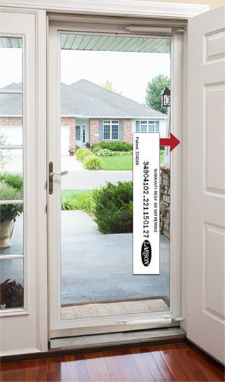 The Midview White Storm Door Adds Traditional Detailing To The