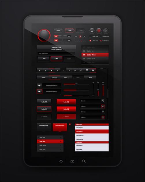Nice tablet UI