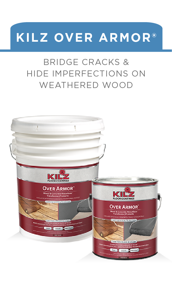 give your wooden deck new life with kilz over armor smooth this rh pinterest com