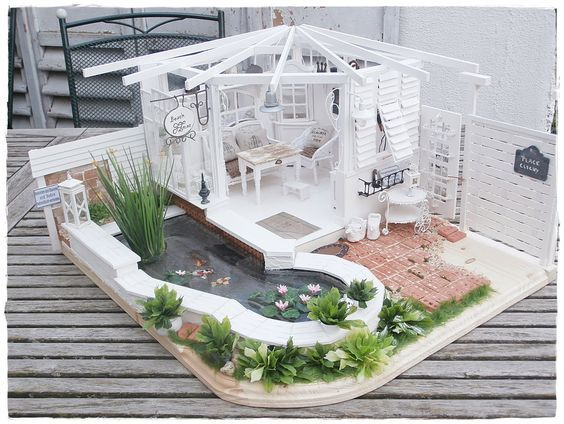 beach house miniature dolls pinterest puppenstube barbie haus und haus. Black Bedroom Furniture Sets. Home Design Ideas