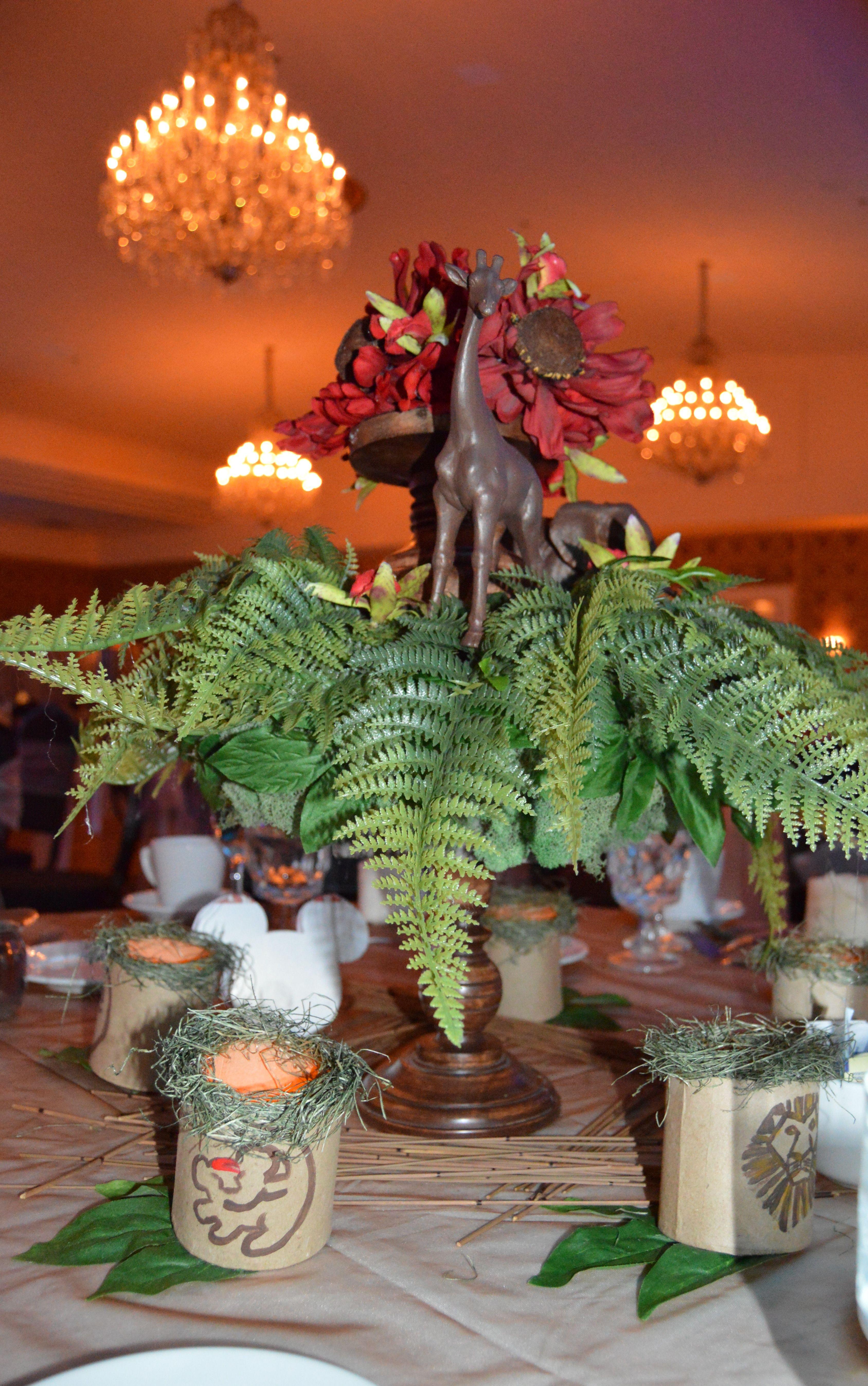 Lion King Inspired Centerpiece Safari | Designing Memories ...