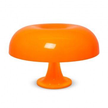 Retro 1960s Style Nesso Orange Table Lamp Iconic Lights Retro Table Lamps Lamp Retro Style Table Lamps