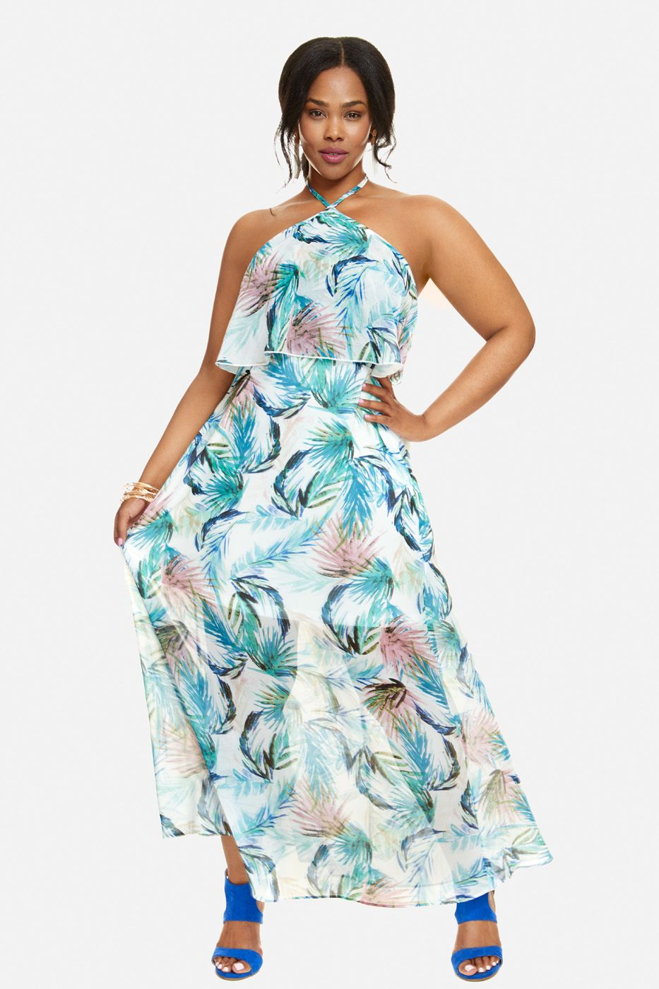 Plus Size Carlie Halter Tiered Maxi Dress | Style- "|933|1400|?|en|2|90e3df4456a636d5396e873cd5f9468f|False|UNSURE|0.3357580900192261