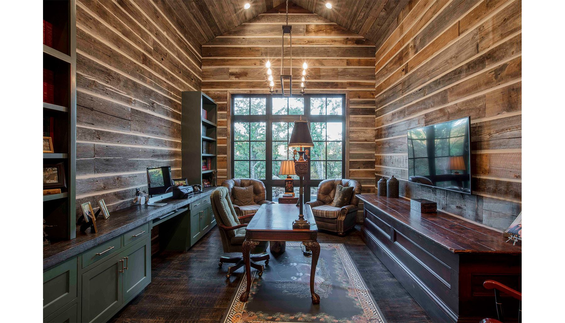 rustic farmhouse study in ranch design by cornerstone architects rh pinterest com