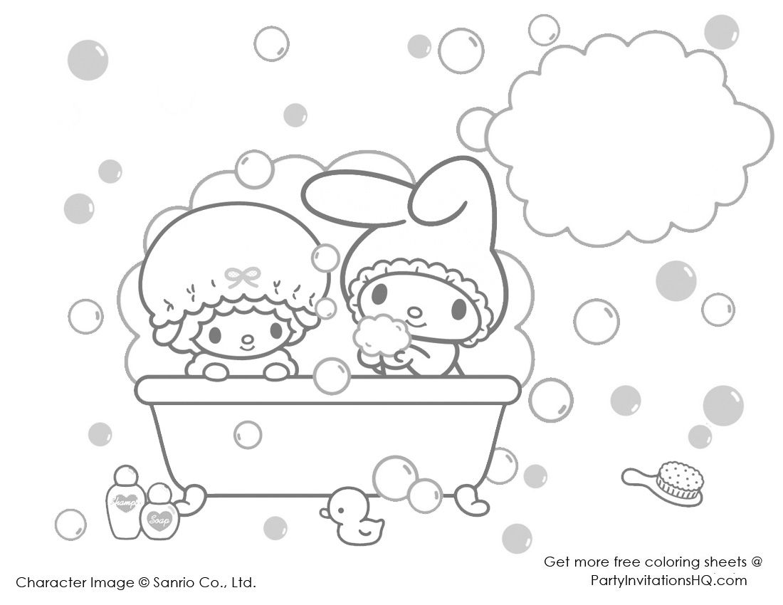 Partyinvitationshq Wp Content Uploads 11 My Melody Coloring Pages 3