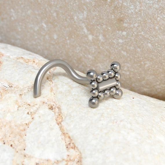 Nose Ring - Nose Screw 22g 20g 18g 16g - Nose Ring Stud Bone - Surgical Steel Nose Earring - Nose Jewelry L Shape - Nose Pin Stud #nosering