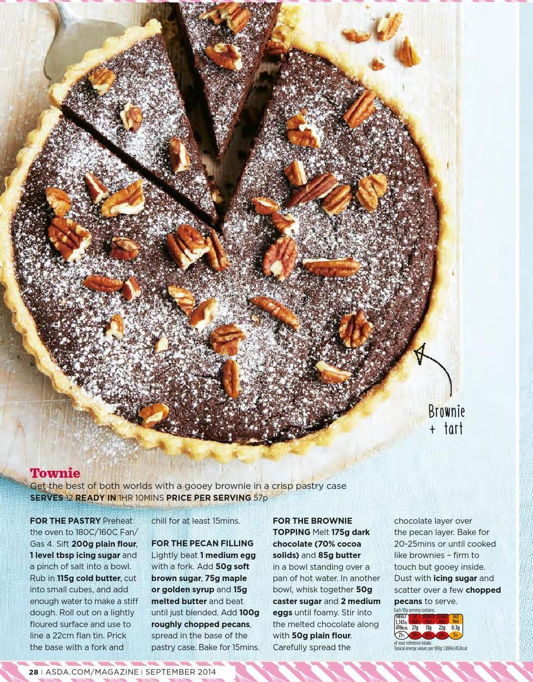 Asda magazine september 2014 sweet recipes chocolate