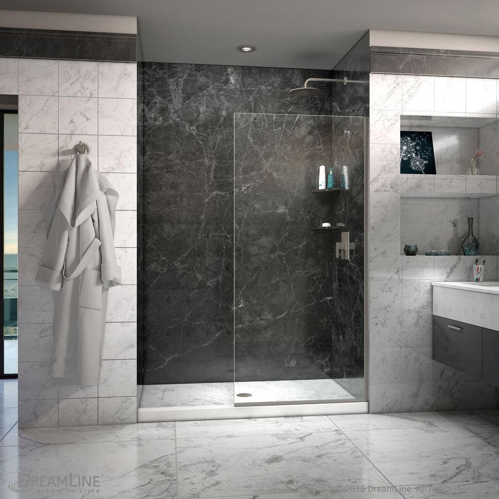 Dreamline Linea Frameless Shower Door 34 In X 72 Open Entry Design