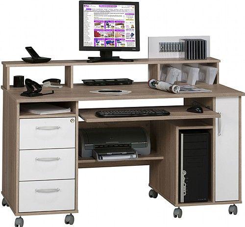 seaton computer desk oak white computer desks all the houses i rh pinterest com