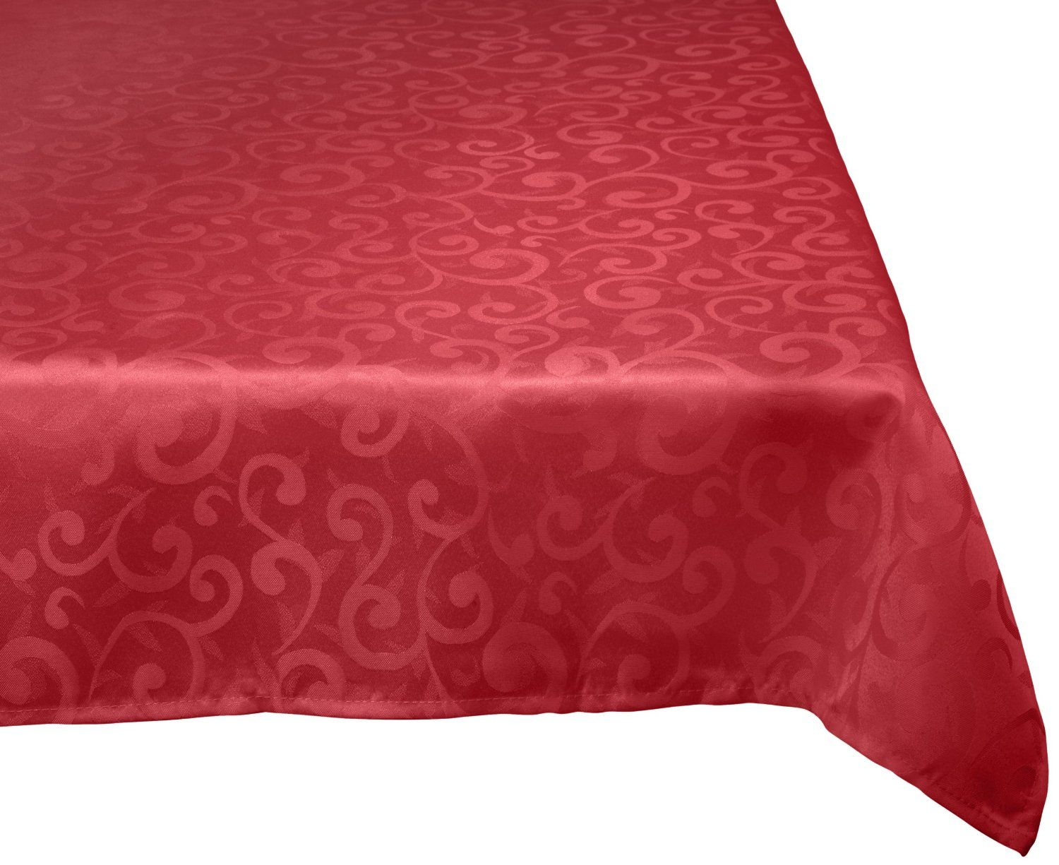Amazon.com   DII 100% Polyester, Damask, Machine Washable Tablecloth Wine  52x70