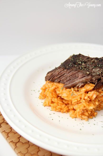 Jones Creek Beef Chuck Roast. I loved this risotto and it was super easy!