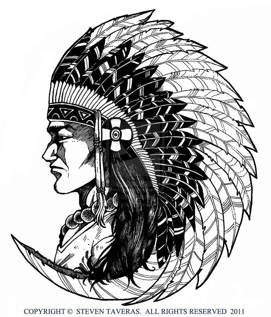 Native American Art Drawings | Native American by ...