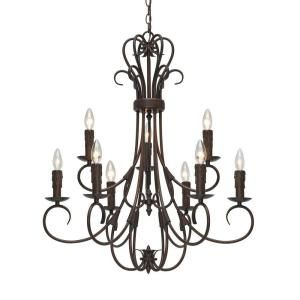golden lighting homestead collection 9 light rubbed bronze 2 tier rh pinterest com