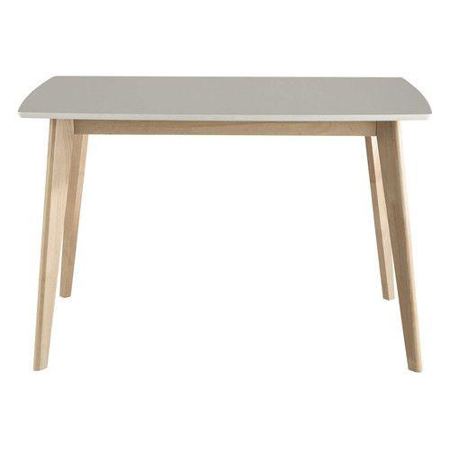 Witte houten eetkamertafel B 120 cm